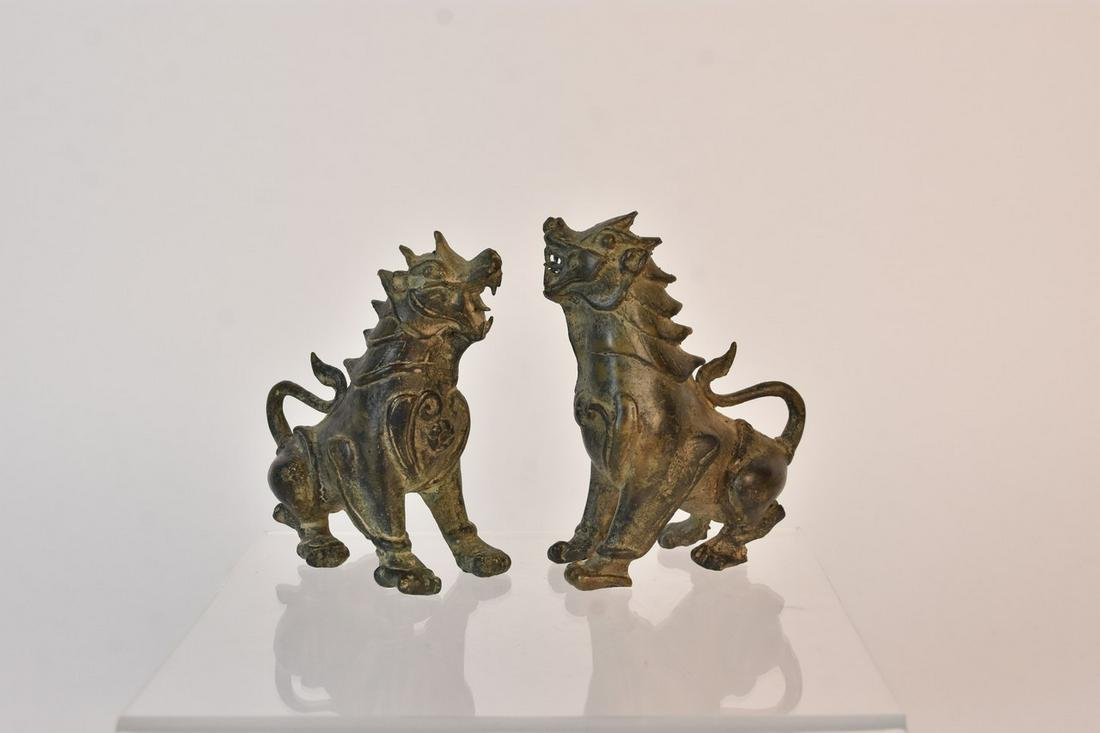 Chinese Bronze Guardian Lions