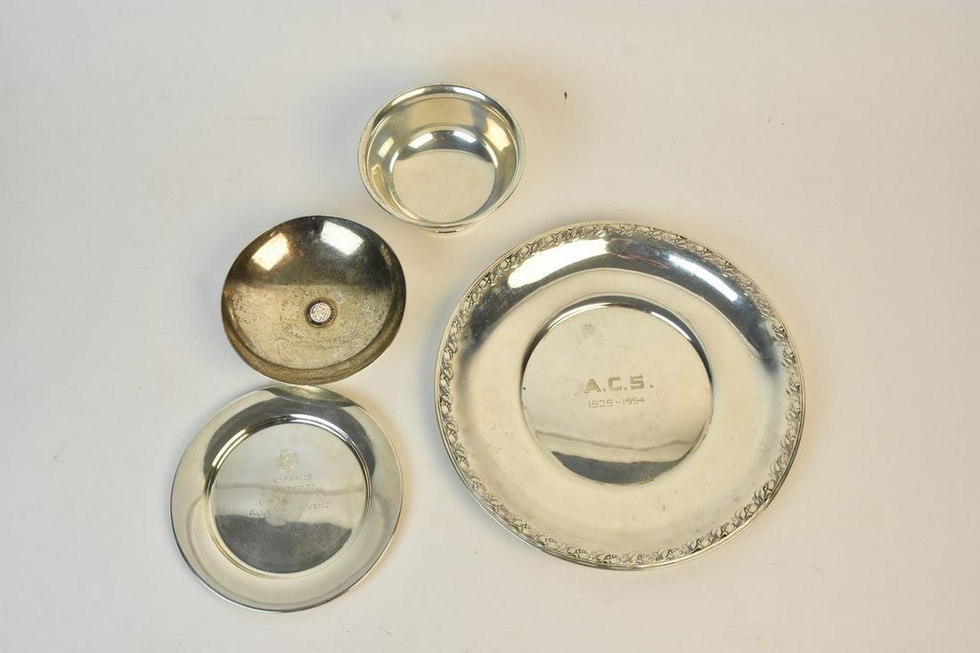 Sterling Bowls & Plates Incl. Commemorative