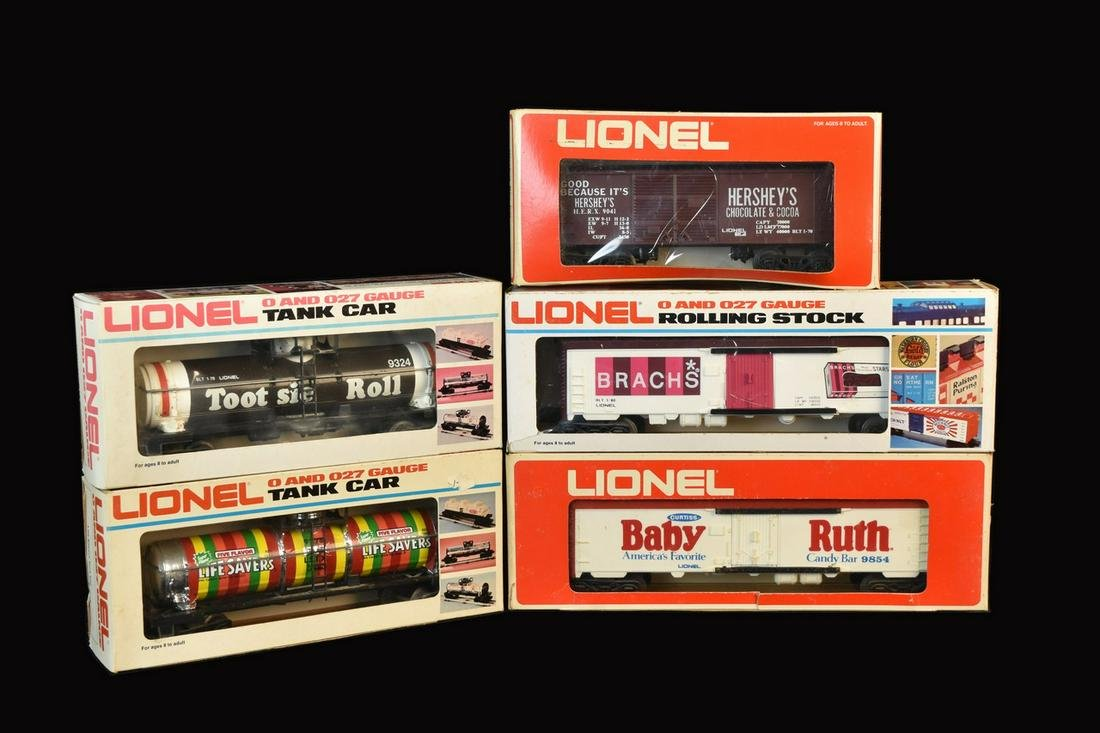 (5) Lionel Candy Advertising Cars