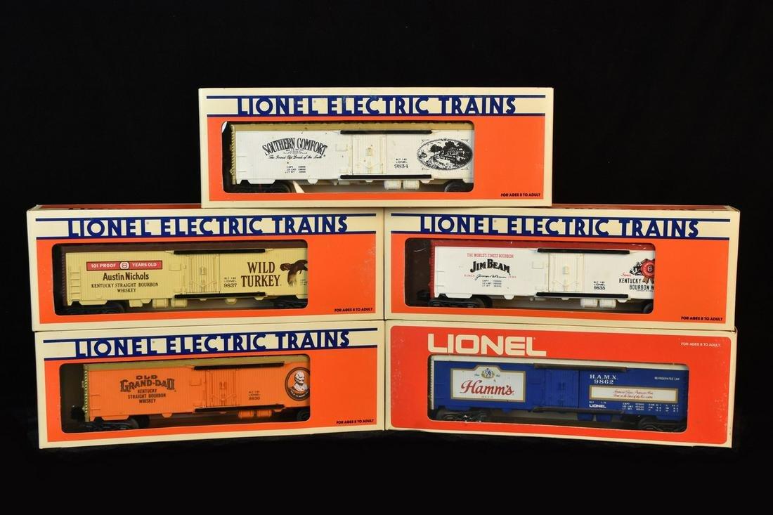 (5) Lionel Liquor Advertising Billboard Reefers