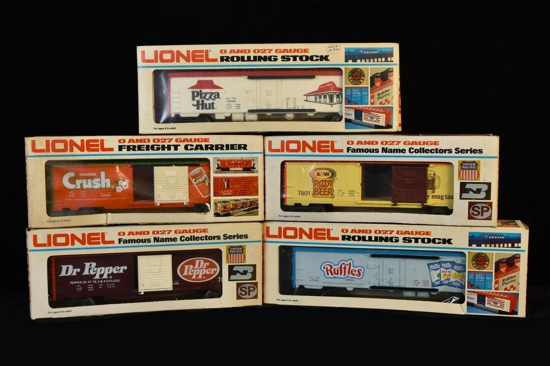 (5) Lionel Advertising Box Cars/Billboard Reefers