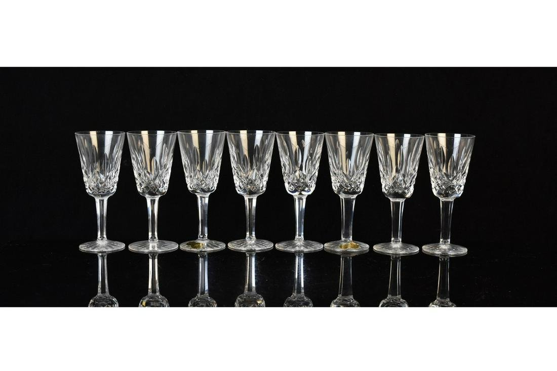 """(8) Waterford """"Lismore"""" Sherry Glasses"""