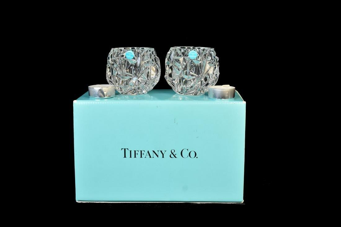 Tiffany & Co Rock Cut Votive Candle Holders