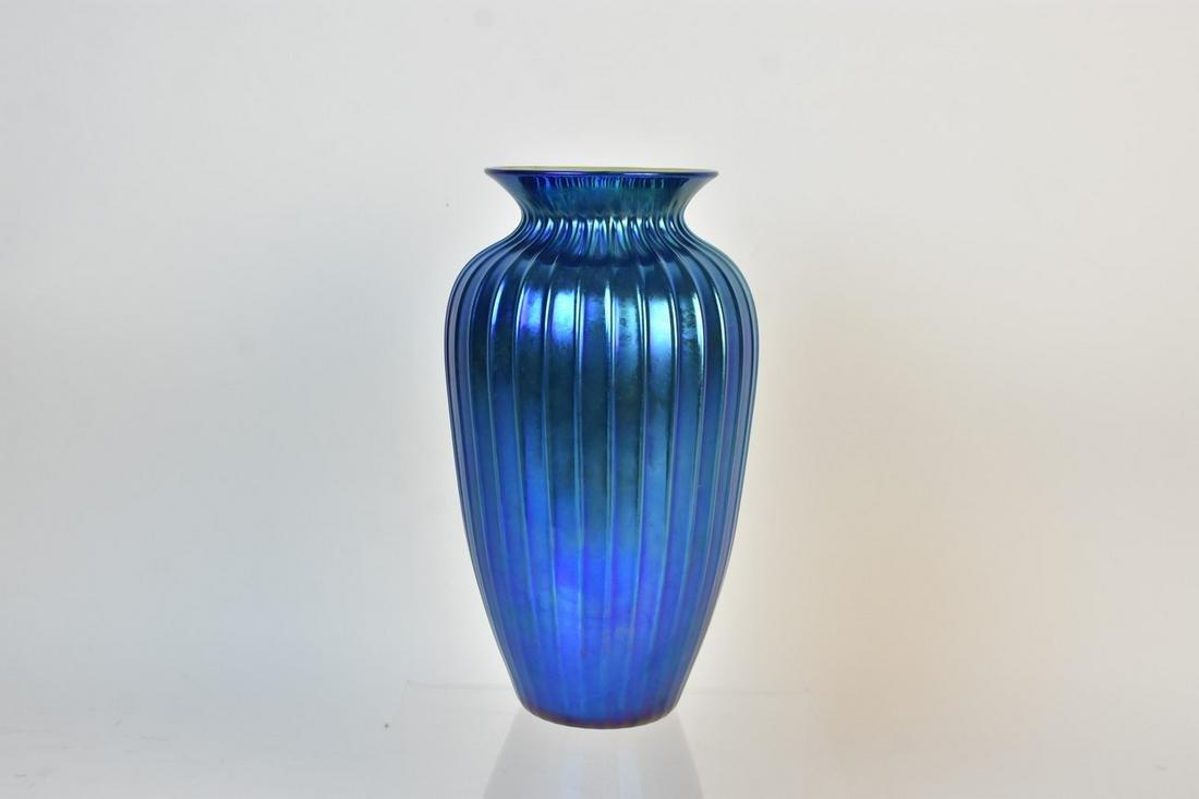 Lundberg Studios Iridescent Signed Vase, 1994