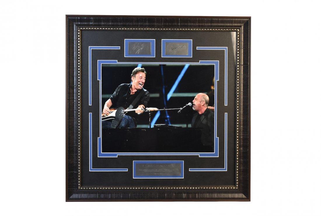 Bruce Springsteen & Billy Joel Autographed Display