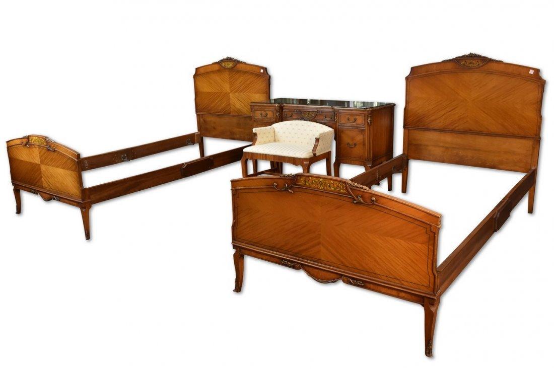 Antique Louis XV Style Twin Bedroom Suite