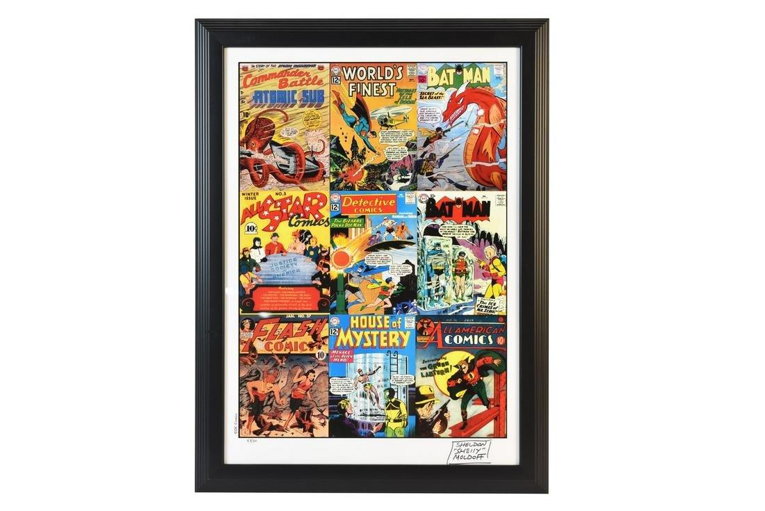 Sheldon Moldoff Signed DC Comics Litho
