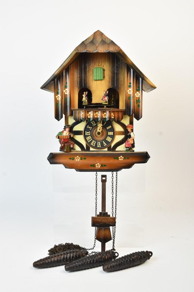 West German Hand Painted Cuckoo Clock