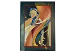 Abstract Original Acrylic Painting of a Woman
