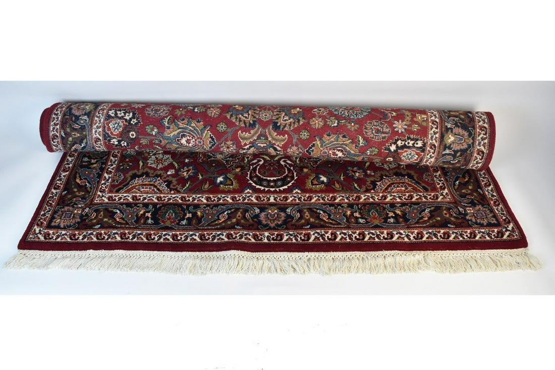 Hand-Knotted Iranian Kashan Style Area Rug 5 X 7