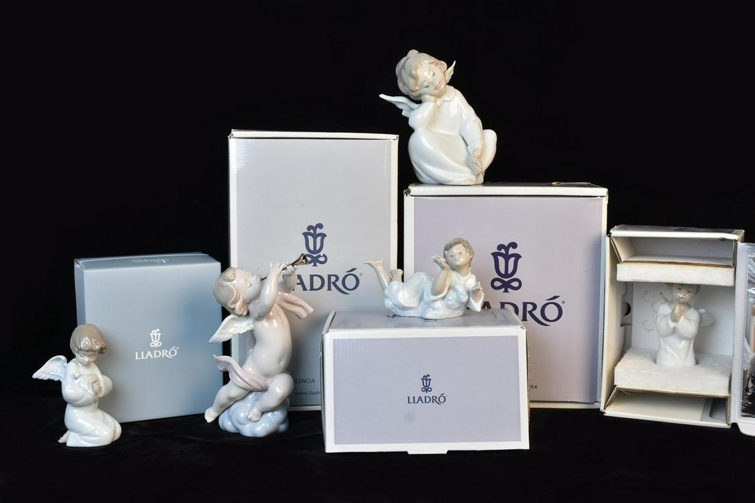 (5) Lladro Angel Figurines
