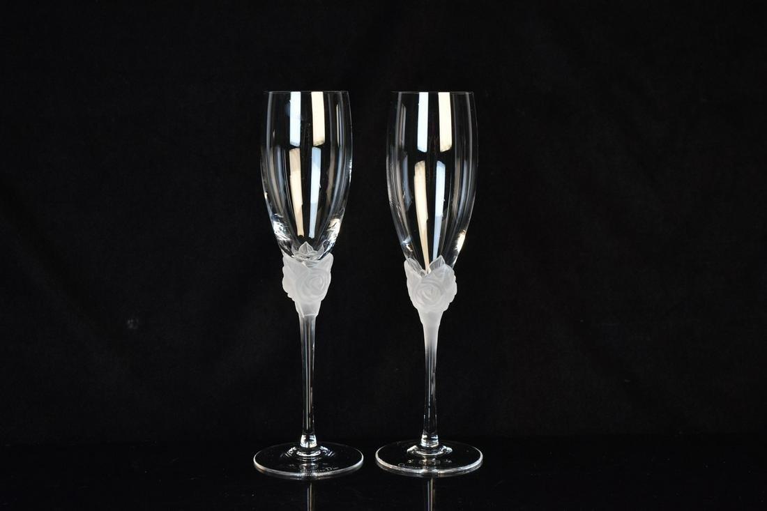 Christian Dior Champagne Flutes