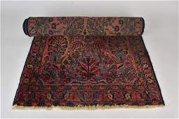 Vintage Persian Sarouk Rug Runner, Hand Knotted