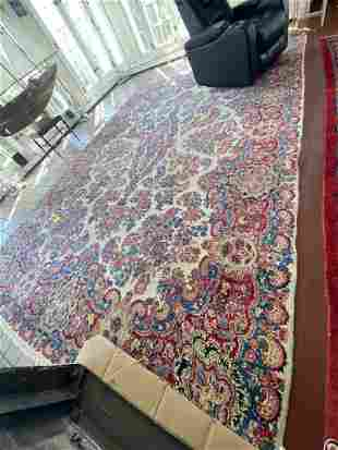 Persian Tabriz Area Rug, Hand Knotted 9.7