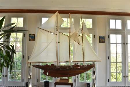 Gigantic Hand Crafted Wooden Ship Model