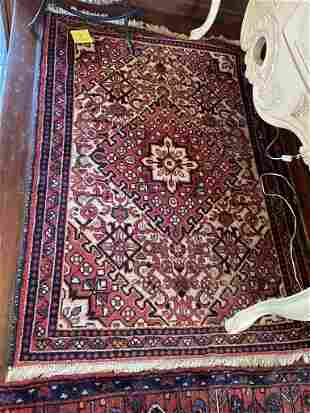 Persian Heriz Area Rug Hand Knotted 3