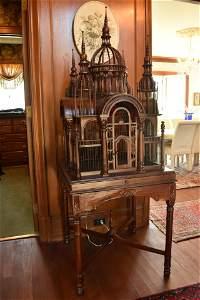 Victorian Mahogany Bird Cage