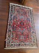 Persian Mehraban Area Rug Hand Knotted 275