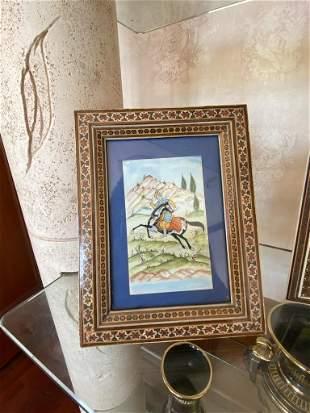Miniature Persian Painting on Bone
