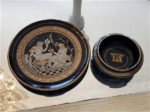 Porcelain Classical Greek Pieces 24K Detail