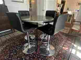 Contemporary BarHeight Table w Chairs