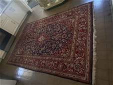 Persian Sarouk Area Rug, Hand Knotted 6.25
