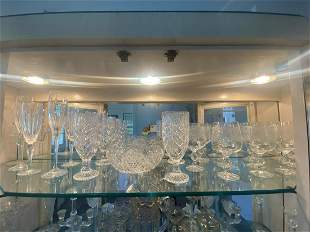 21 Pieces of Crystal Feat Stemware
