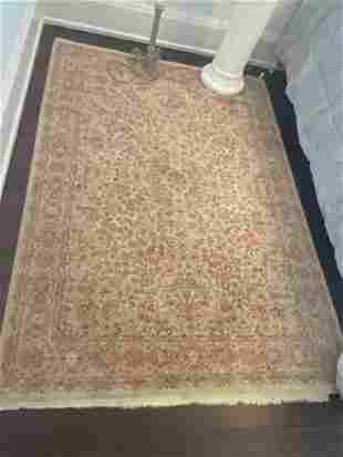Persian Sarouk Area Rug Hand Knotted 4