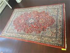 Persian Tabriz Area Rug, Hand Knotted 6.5