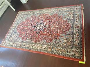 Persian Tabriz Area Rug Hand Knotted 65