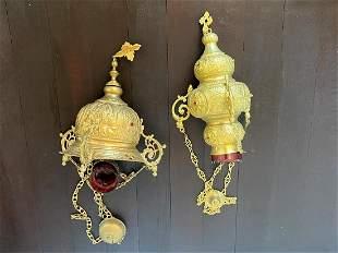 Brass Persian Hanging Lanterns