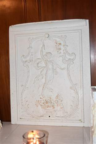 Cast Iron Greek Embossed Fireplace Cover