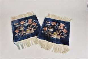 East Asian Silk Rug Fragments