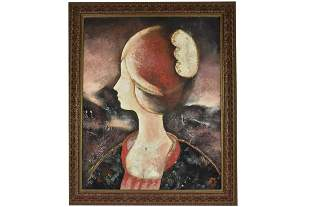 Mixed Media Oil Painting on Canvas Signed