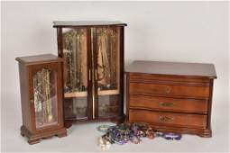 Huge Assortment of Costume Jewelry With Boxes