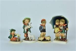 (4) Goebel Hummel Figurines all stylized bee trademark