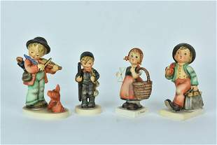 (4) Goebel Hummel Figurines TMK3 All Stylized Bee