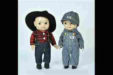 (2) Vtg. Buddy Lee Advertising Dolls