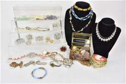 Costume Jewlery Incl Watches