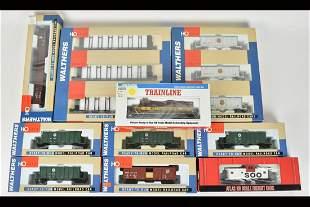 (10) Walthers & Atlas HO Scale Train Cars