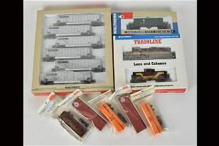 Walthers HO Scale Train Cars & Van Trailer Kits