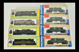 (8) Atlas & Walthers HO Scale Trains/Engines