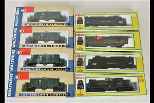 (8) Atlas & Walthers HO Train Cars/Engines