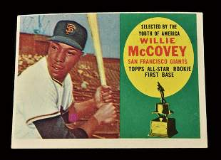 1960 Topps Willie McCovey baseball rookie card