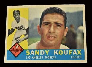 1960 Topps # 343 Sandy Koufax baseball card