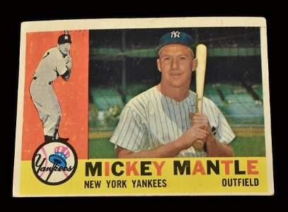 1960 Topps #350 Mickey Mantle baseball card