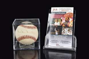 Duke Snyder Autographed Baseball, COA