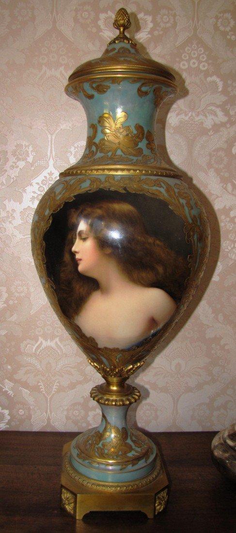44: Sevres Portrait Vase (3 piece)