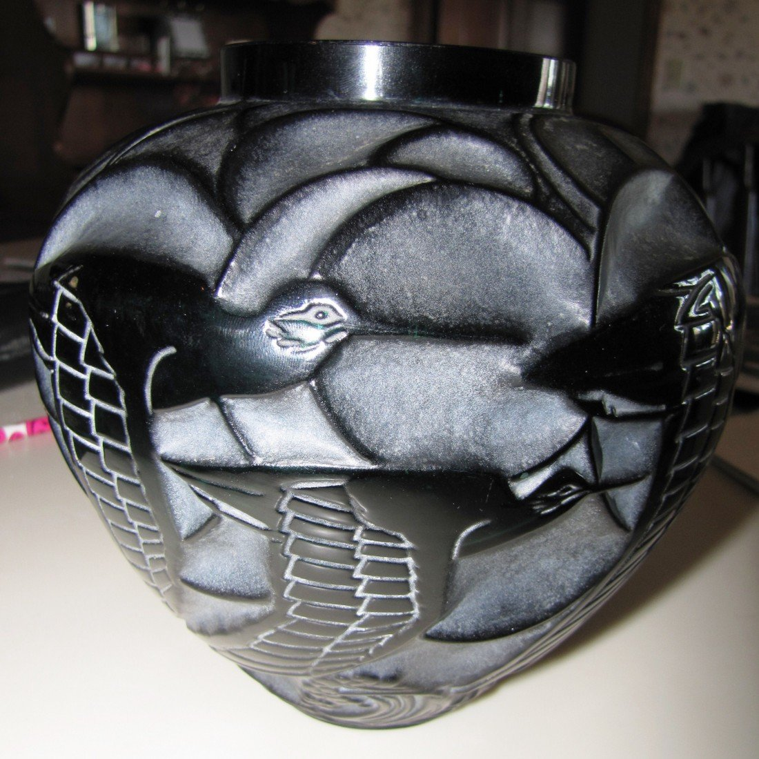 45: Rene Lalique Courlis Vase