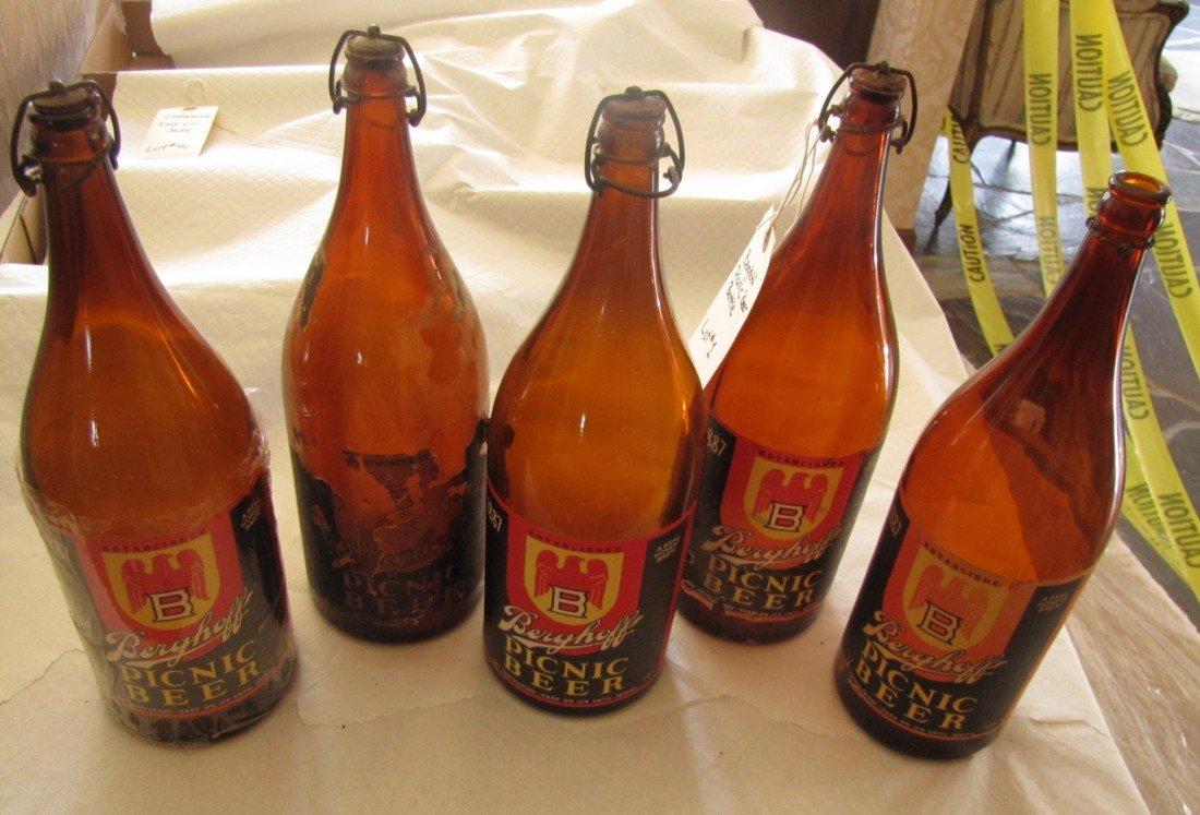 1: (5) Berghoff  Picnic Beer Bottles